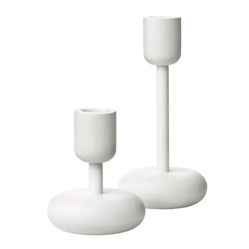 Iittala Nappula Candleholder Set, 3.25-Inch and 7.25-Inch, White