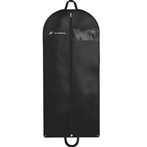 Garment Bag for Travel and Storage 54 x 24 - Hanging Black Suit Dress Carry On Cover