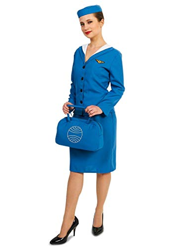 Retro Glam Airline Stewardess Adult Costume -