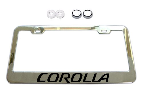 Toyota Corolla Chrome License Plate Frame w/ Screw Covers