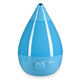 Crane Humidifier, Ultrasonic Cool Mist Humidifiers, Filter-Free, 1 Gallon, for Home Bedroom Baby Nursery and Office 1 1 GALLON TANK: Removable 1 gallon tank fits under most bathroom sinks for easy filling and runs whisper quiet up to 24 hours CLEAN CONTROL: Anti-microbial material reduces mold and bacteria growth by up to 99.96% SOOTHING RELIEF: Ultrasonic Cool Mist effectively humidifies up to 500 square feet for easier breathing and a good night's sleep