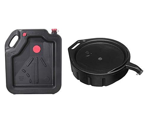 Hopkins 16-Quart Oil Drain Container bundle with FloTool 15-Quart Oil Drain Pan ()