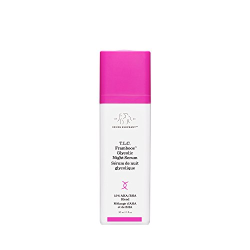 (Drunk Elephant T.L.C. Framboos Glycolic Night Serum - Skin Care Brightening Night Serum (30ml/ 1 fl oz))