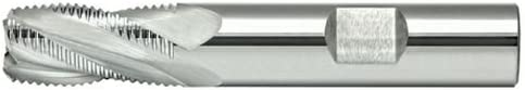 Alfa Tools SCREM50803 3//8 4 Flute Coarse Carbide Roughng End Mill Made In USA,