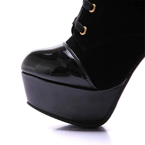 Heel Black Women Short Warm Boots Sexy High Europe America And Aikaka Shoes Autumn Winter Bqn6zRSSW