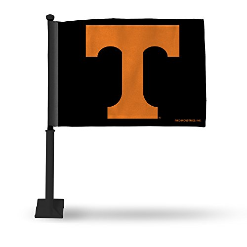 Rico Industries NCAA Tennessee Volunteers Car Flag with Black Pole