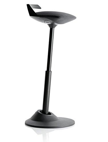 AERIS Muvman sit-stand stool (Black seat/Black base)