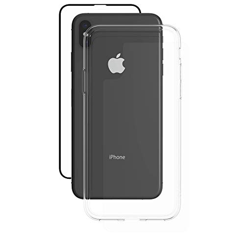 ZAGG InvisibleShield Glass+ 360 - Front + Back Screen Protection with Side Bumpers Made for Apple iPhone XS Max - Clear with Black Borders as Lining by ZAGG (Image #1)