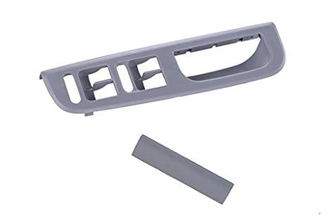 xktuning gris frontal Master Ventana Interruptor de consola izquierda conductor mango juego de tapacubos para VW 98 - 05 Passat B5 98 - 04 Jetta goft MK4: ...