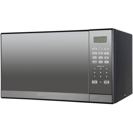 Oster 1.3-cu. ft. Microwave Oven with Grill | Smudge-Resistant Mirror Finish, Oster 1.3-cu. ft. Microwave Oven with Grill