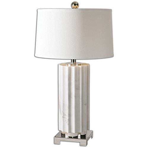 Calvin Modern Desk Table Lamp with USB Charging Port Brushed Steel Curved Frosted Glass Dome Shade for Bedroom Office – Possini Euro Design