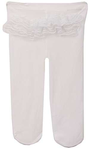 Baby Girls Kids Toddler Ruffle Lace Rhumba Legging Tights Stockings Leg Warmer White 6M-18M