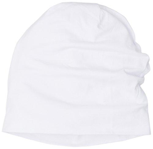 Unisex white Punto Jersey Weiß de 3413 Adulto Beanie Gorros MASTERDIS vqXHw