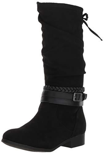 Image of Nine West Girls' ALTAH Knee High Boot, Black, M110 M US Little Kid
