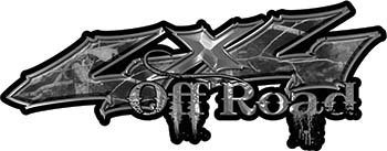 Weston Ink Off Road Twisted Series 4x4 Truck Bedside or Fender Emblem Decals in Gray Camouflage