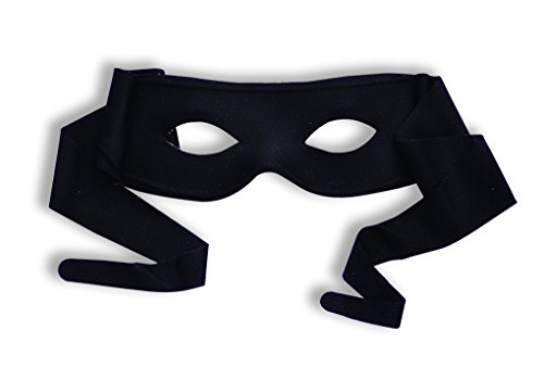 Forum Novelties Black Half Mask with Ties - Masked Bandit