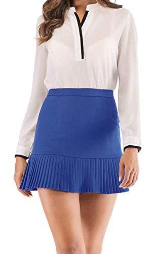 14e08b625 Women's Mini Skater High Waist Tennis Elastic Waist Skirt | Weshop ...