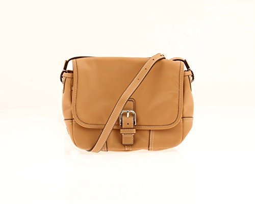 Coach Hadley Leather Field Bag F29763 Natural