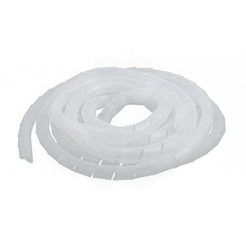 14mm Outside Dia 13Ft Clear Spiral Wrapping Band Cable Wire Wrap Tube Cord Pipe by ()