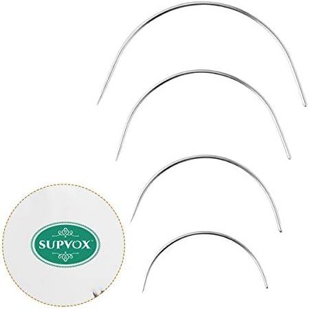 SUPVOX 48本 カーブニードル Cタイプ 手縫い針 4サイズ 2.0/2.5/3/3.5インチ