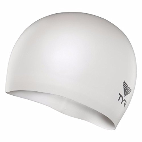 TYR Wrinkle Free Junior Silicone Cap, White