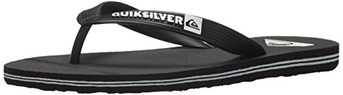 Quiksilver Boys' Molokai Youth Sandal Black/White, 13(31) M US Little Kid (Youth Footwear Black)