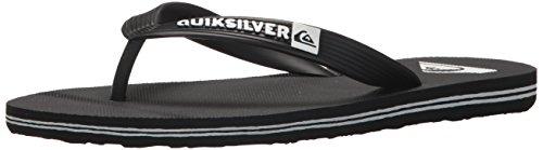 Quiksilver Boys' Molokai Youth Sandal, Black/White, 3(34) M US Little Kid
