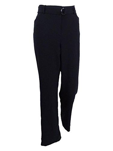 - Tahari ASL Women's Belted Crepe Trousers (6, Black)