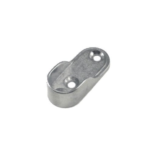 EPCO 840-PC Open Flange For Oval Rod No Mounting Pins Zinc Bright Chrome (Each) - Epco Chrome Rod
