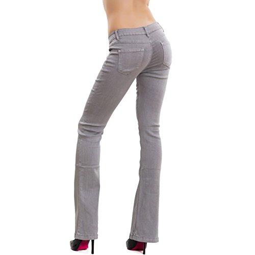 Gris Skinny Clair Jeans Toocool 7035 Femme Ral twqO55Tx