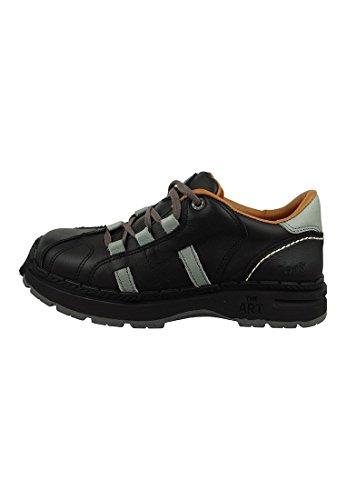 Art Schuhe Schnürer Libertad Schwarz Grau Black Grey 0204, Groesse:42 EU / 8 UK / 8.5 US