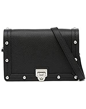 Madison Leather Crossbody Bag - Black