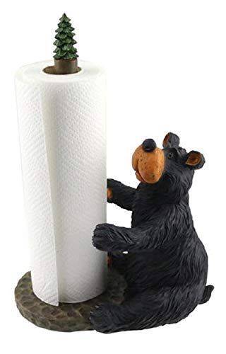 Wilcor Willie Black Bear Sitting Paper Towel Holder Bear Paper Towel Holder
