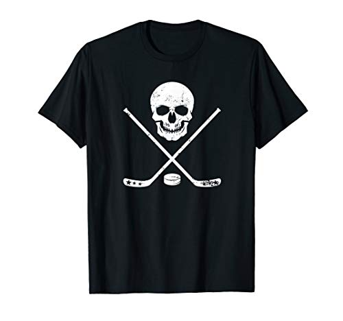 Ice Hockey Shirt Rackets and Pirate Skull -