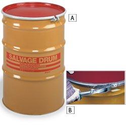 Skolnik Salvage Drum, Open Head, 85 gal, Yellow