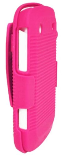 DECORO DHCBB9900HP Rubberized Ribbed Shell and Holster with Fixed Ratching Belt Clip for BlackBerry 9900/9930/Bold Touch - 1 Pack - Carrying Case - Retail Packaging - Hot Pink