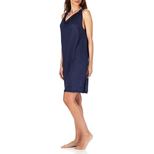 Vilebrequin Solid Kleid mit Wasserfallkragen aus Leinenjersey für Damen Marineblau jaiGc