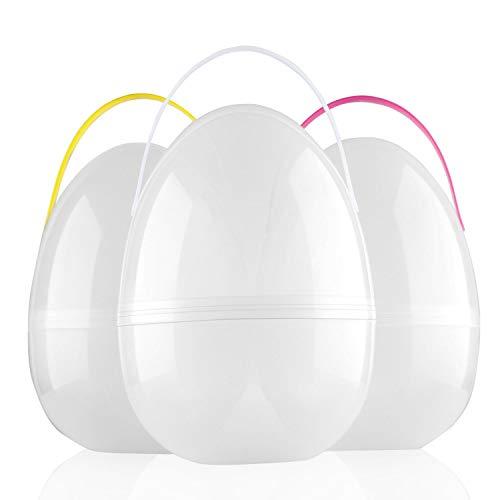Jumbo Easter Egg (BTSD-home Jumbo 10 Inch Giant Easter Eggs, Plastic Huge, 3 Eggs + 4)