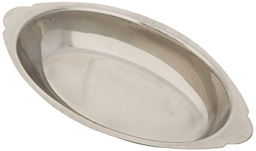 (Winco ADO-20 Stainless Steel Oval Au Gratin Dish, 20-Ounce)