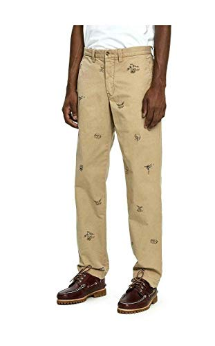 - Polo Ralph Lauren Men's Football Graffiti Stretch Straight Fit Twill Pant, Luxury Tan (38x32)