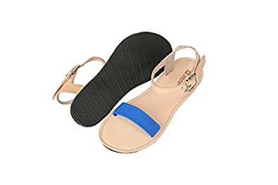 Deux Mains Designs Women's Bel Nanm Leather Sandal Size 6 Caribbean Sea