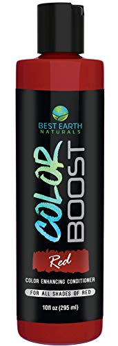 Color Boost Red Color Depositing Conditioner For All Shades of Red Hair to Add Red Temporary Hair Color For Women and Men By Best Earth Naturals 10 Ounces ()