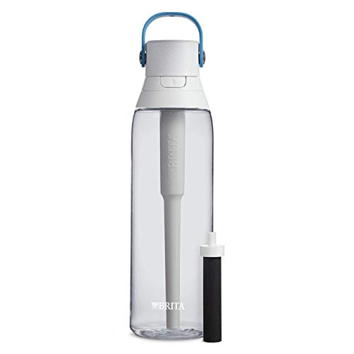 Brita 26 Ounce Premium Filtering Water Bottle with Filter BPA Free – Clear (Renewed)