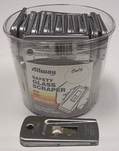 50 Piece Safety Glass Scraper Bucket GS50 [Set of 50]