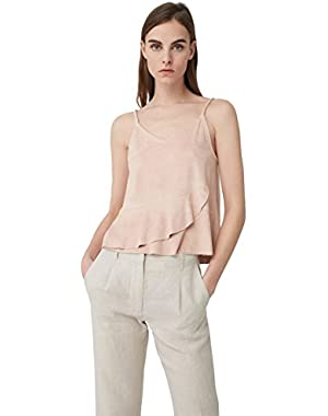 Mango Women's Ruffled Hem Top