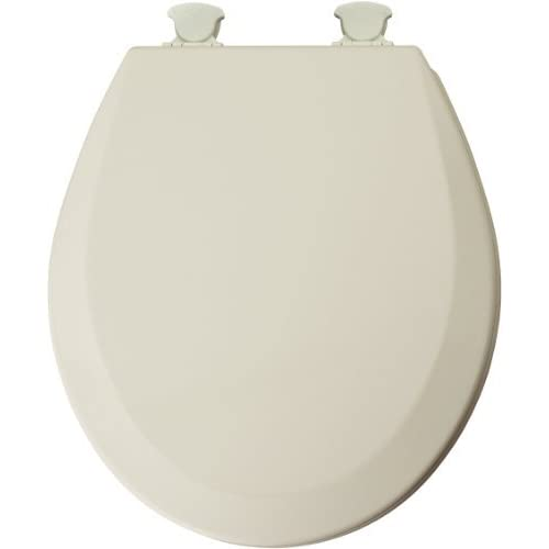 well-wreapped Mayfair 46EC 346 Molded Wood Toilet Seat with Lift-Off Hinges, Round, Biscuit by Mayfair