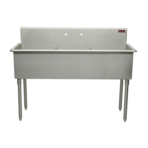 Bowl Scullery Sink (Griffin T60-368 T-Series Freestanding 2-Hole Triple Bowl Scullery Sink, 51-Inch, Stainless Steel)