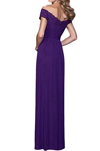 Ab V von Violett A Schulter Linie Partykleid Damen Abendkleid Promkleid der Ausschnitt Ivydressing OSw505