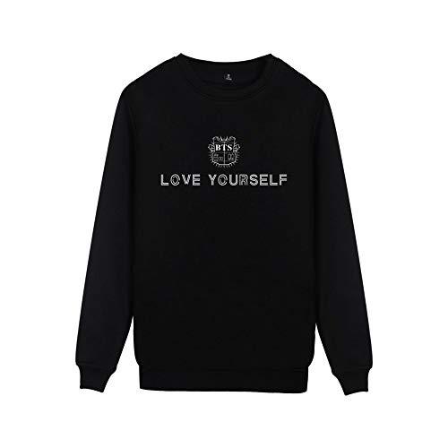 Yourself Sweat Aivosen Street Bts Love Top Comode Semplice shirts Girocollo Allentato Style Moda Felpe Unisex Black Casual EOwTqwYC