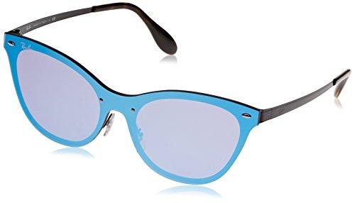 Ray-Ban Women's Steel Woman Non-Polarized Iridium Cateye Sunglasses, Orange, 43 - Blaze Clubmaster Ray Ban
